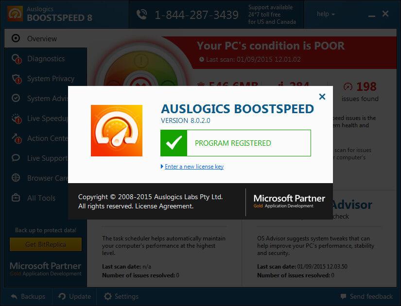 license key for auslogics boostspeed 10
