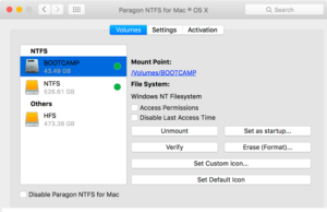 Paragon NTFS For Mac With Full Crack