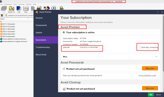 Avast Premier 2019 activation code Archives