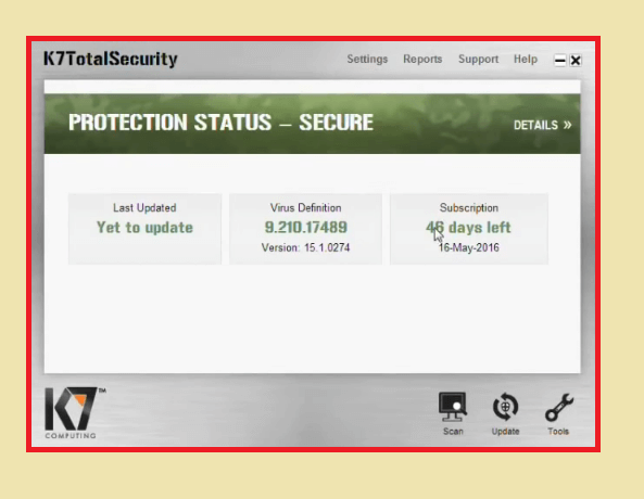 k7 activation key offline
