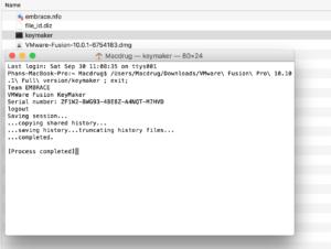 vmware fusion key generator mac
