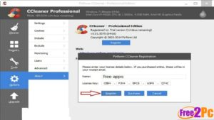 free license key for ccleaner