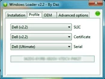 windows loader by daz windows 10 pro