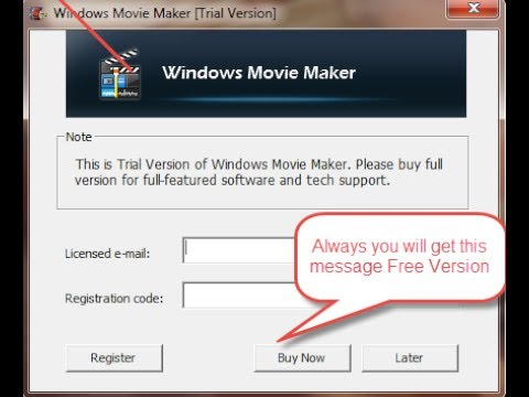 registration code for windows movie maker