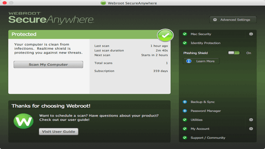 webroot lifetime license key
