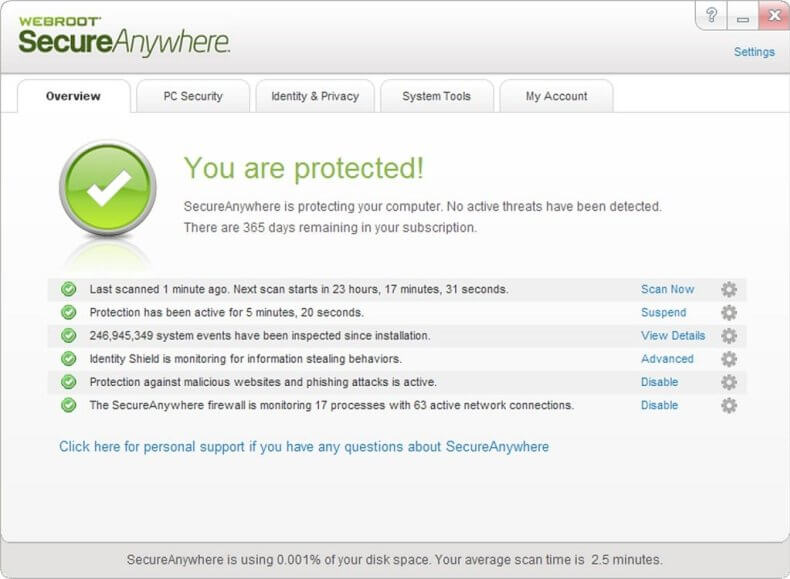 Webroot SecureAnyWhere Antivirus Crack {23 July 2019} – FreeProSoftz