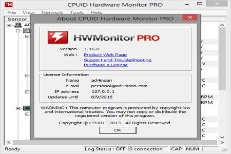 CPUID HWMonitor Pro Crack + Latest Version Full Updated [30