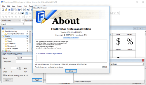 font creator registration code 11.0