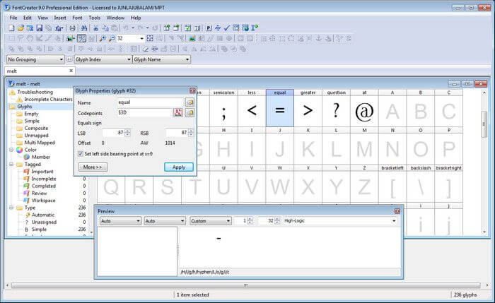 high logic font creator serial key